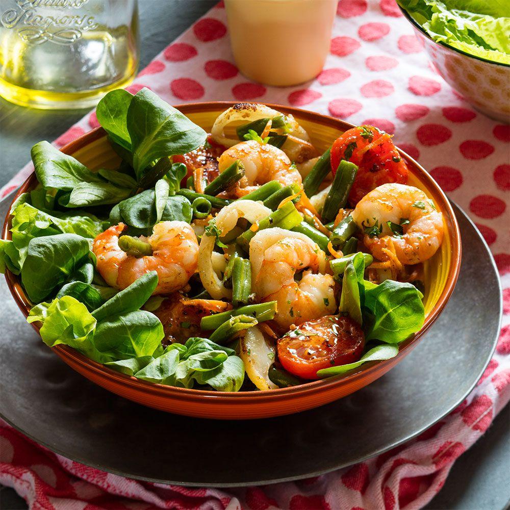 Салаты с маслом из морепродуктов