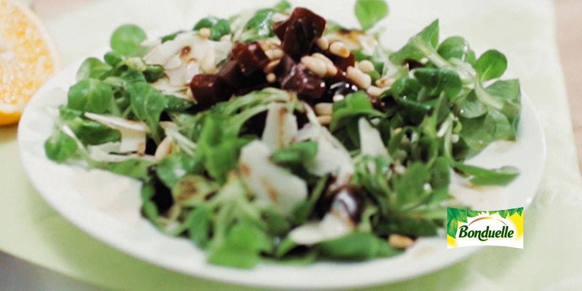 Салат с бальзамическим уксусом с