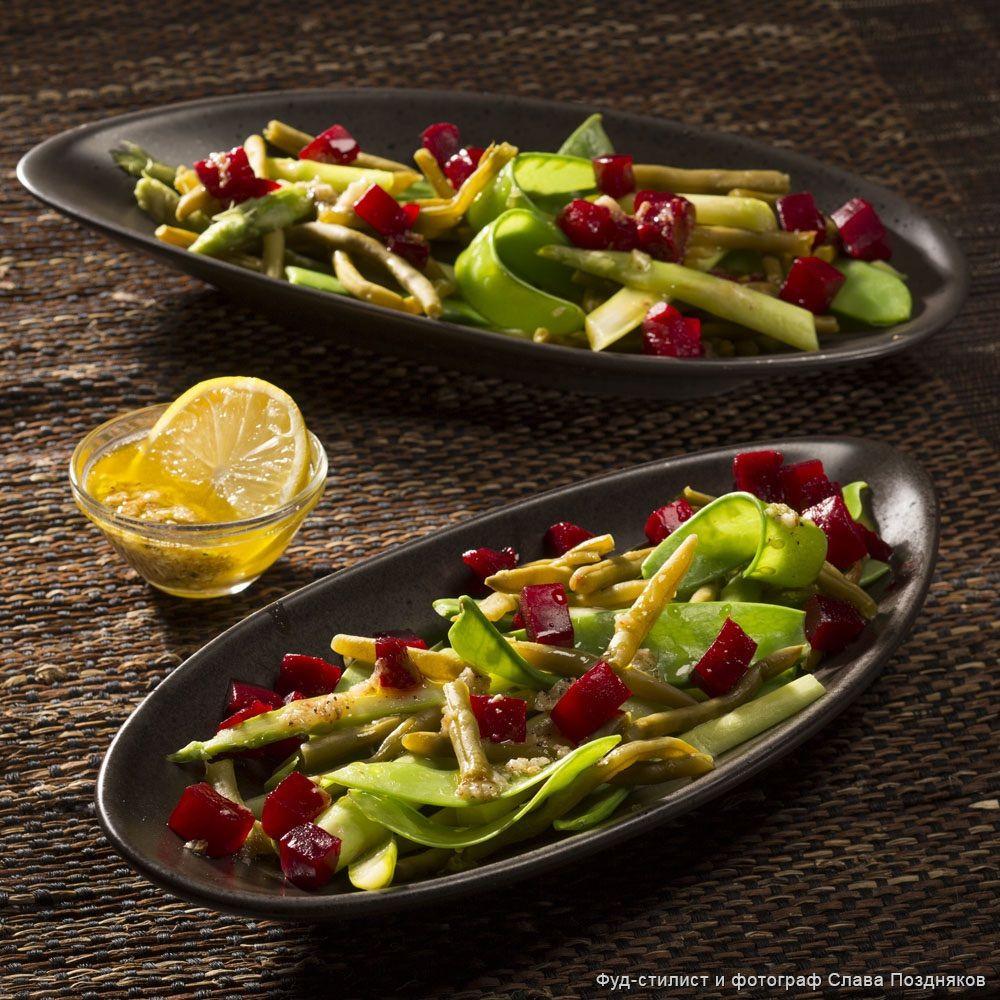 рецепты салатов из спаржи зеленой с фото